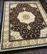 Modern Rugs Approx 11x8ft 240x340cm Woven Thick Quality Brown-Beige XX LARGE RUG